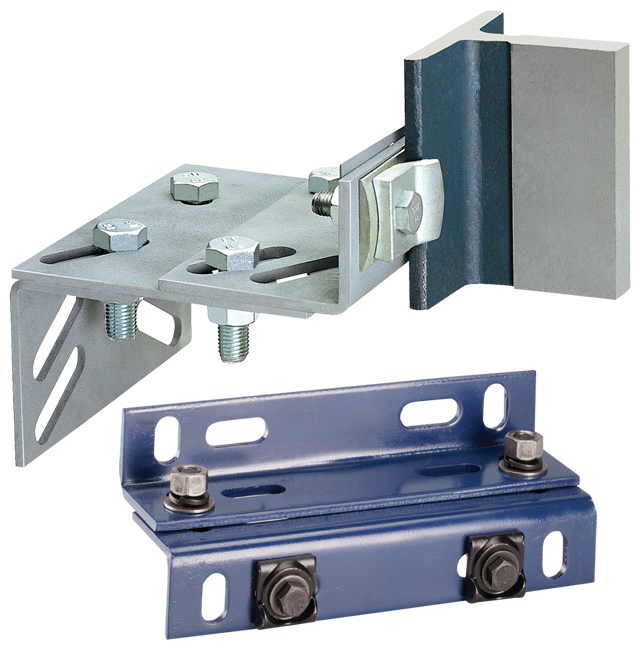 elevator guide rail brackets